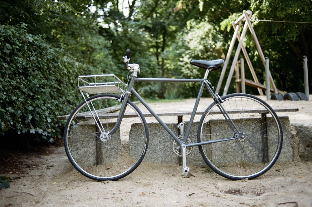 gray bike