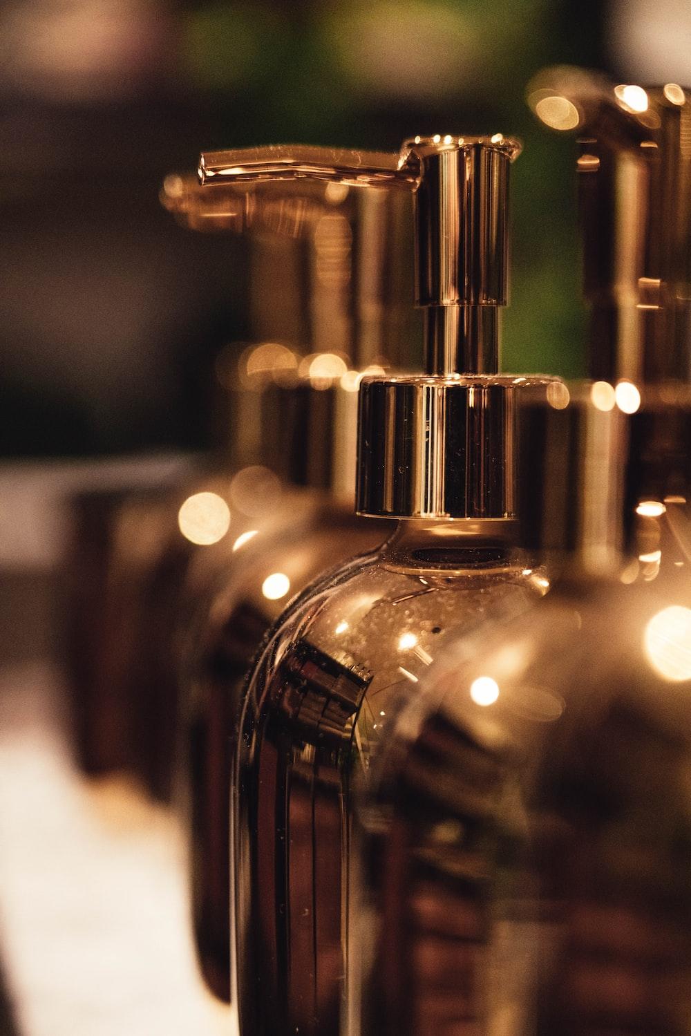 brown pump bottle