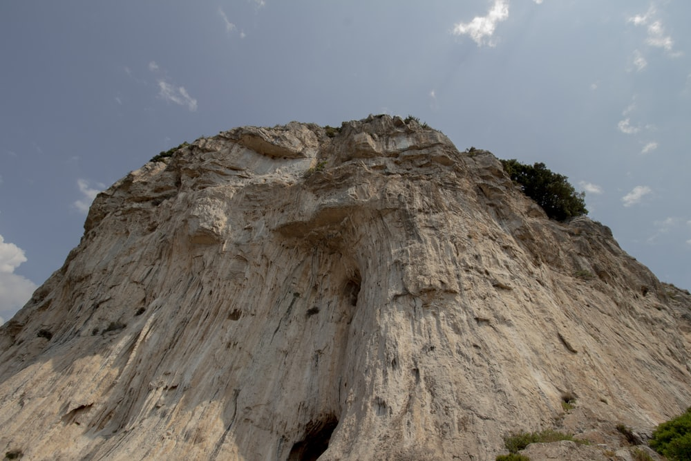 brown rock formation