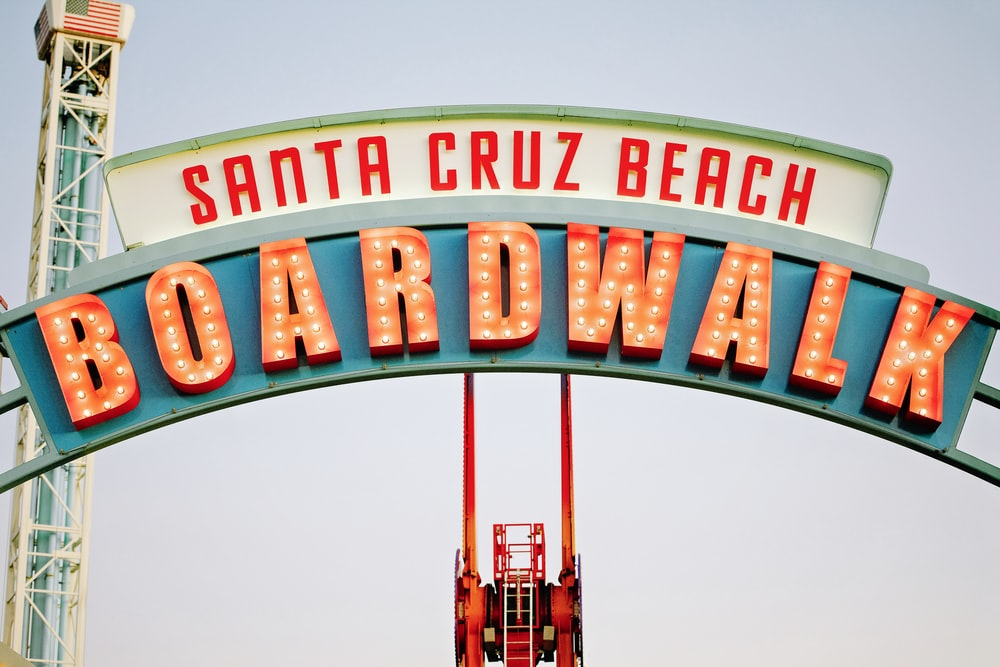 Santa Cruz Beach Boardwalk sign