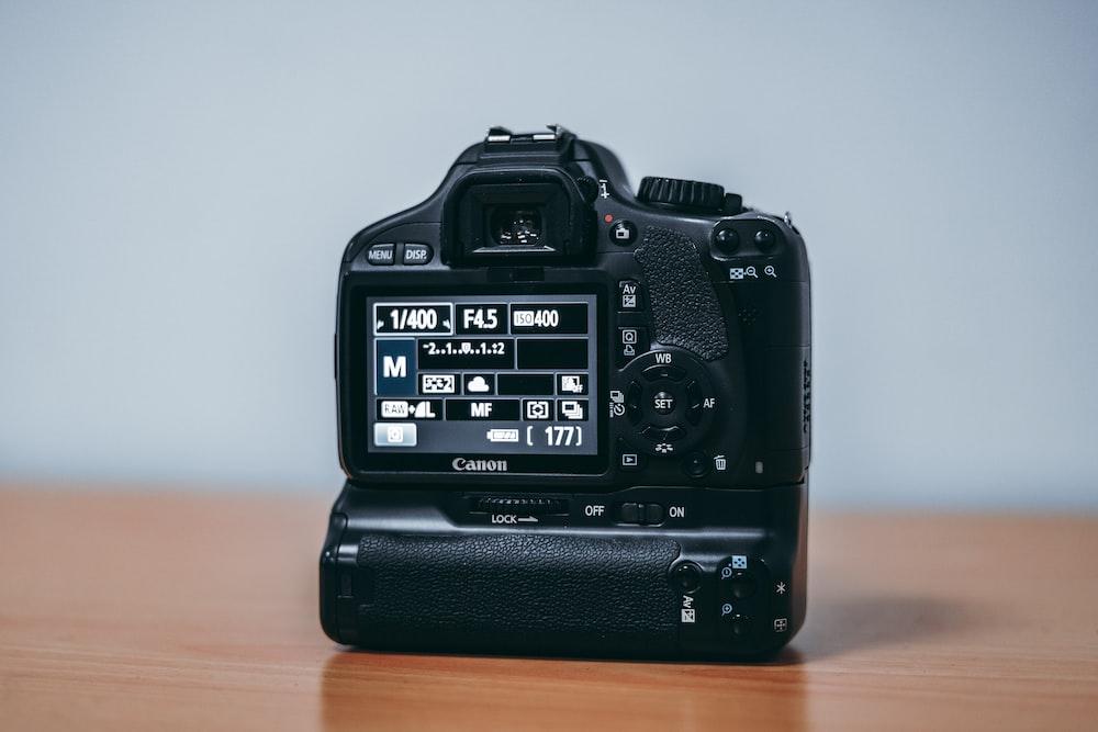 black digital camera