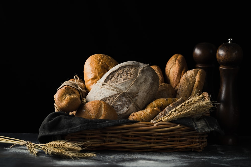 assorted breads in basket
