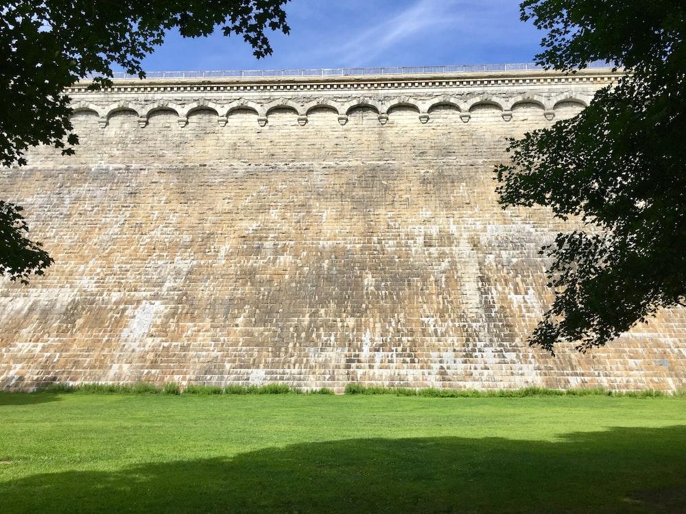 concrete wall at the garden