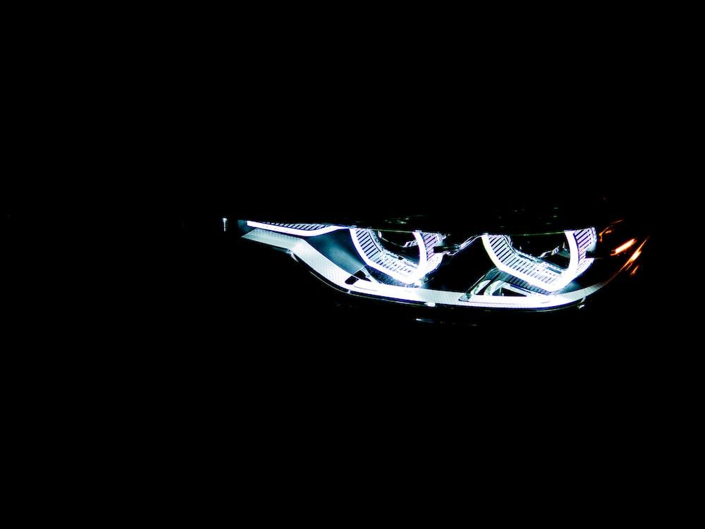 white car headlight