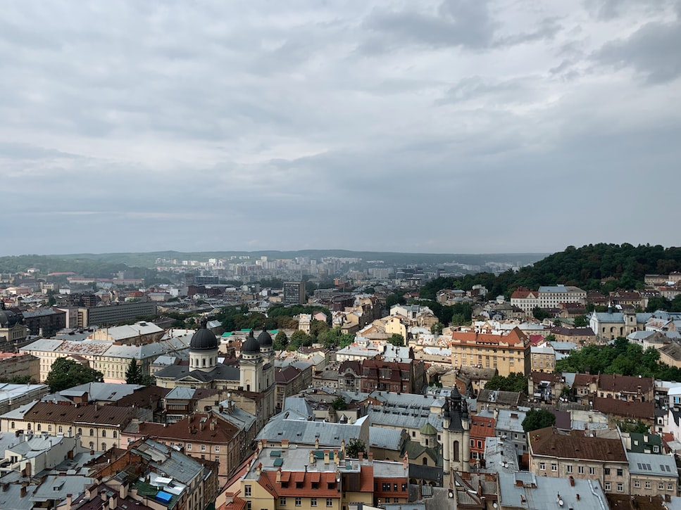 View from the City Hall: Attractions to cover in Lviv.