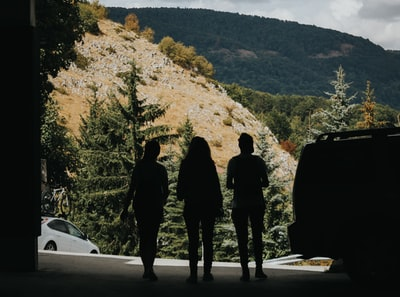 silhouette of three women north macedonia zoom background
