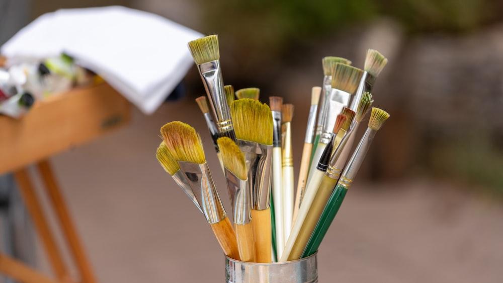paintbrush in jar
