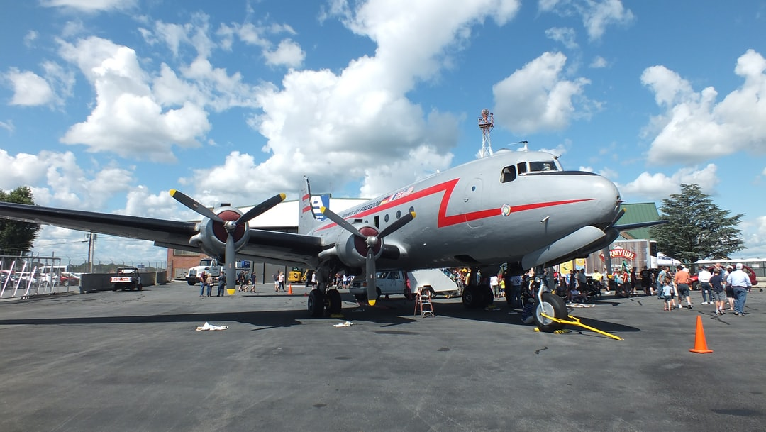 C-54 Cargo Plane used in the Berlin Airlift 1948-1949. Lancaster airshow, Lancaster Pennsylvania, USA 24/25 August 2019