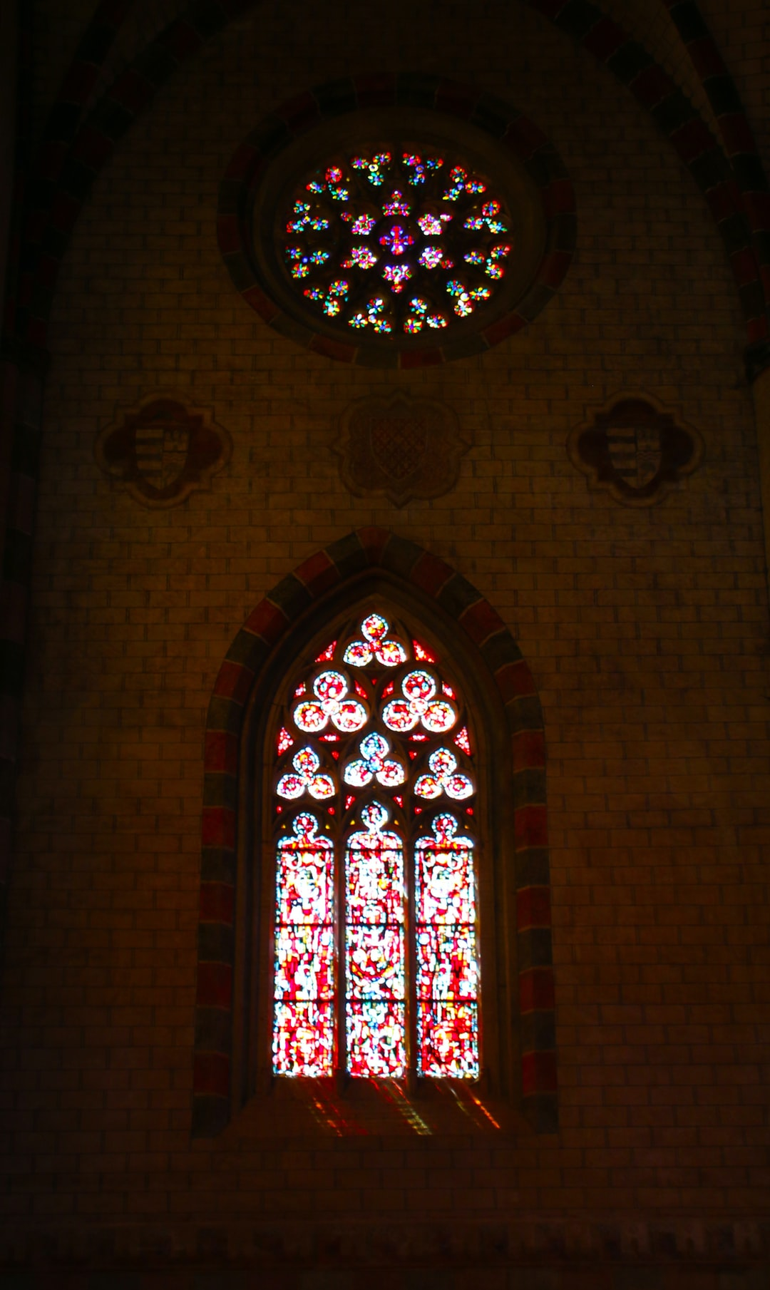 Simple game of contrast. As seen in the Couvent des Jacobins Cathedral, Toulouse, France.