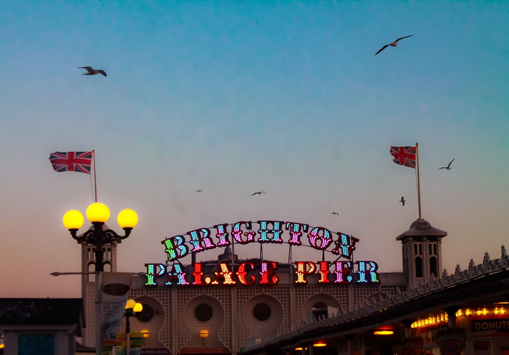 Brighton Palace Pier at night