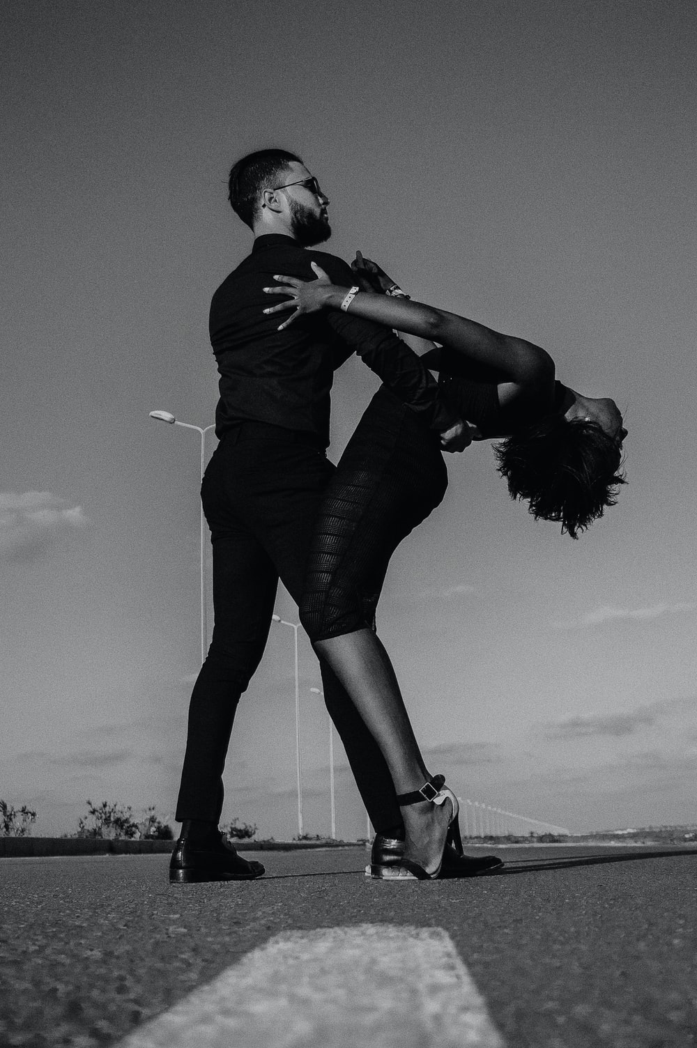 couple dance tango at the street