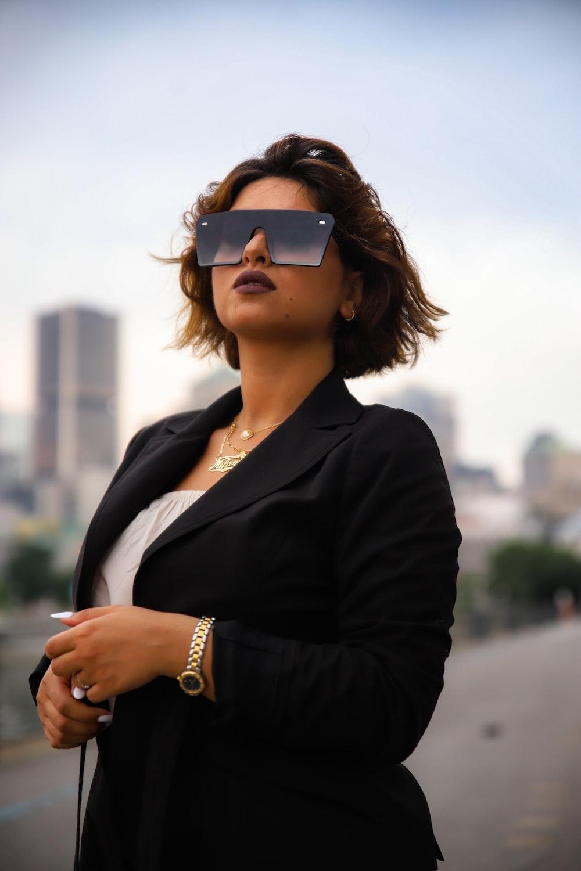 woman wearing black blazer