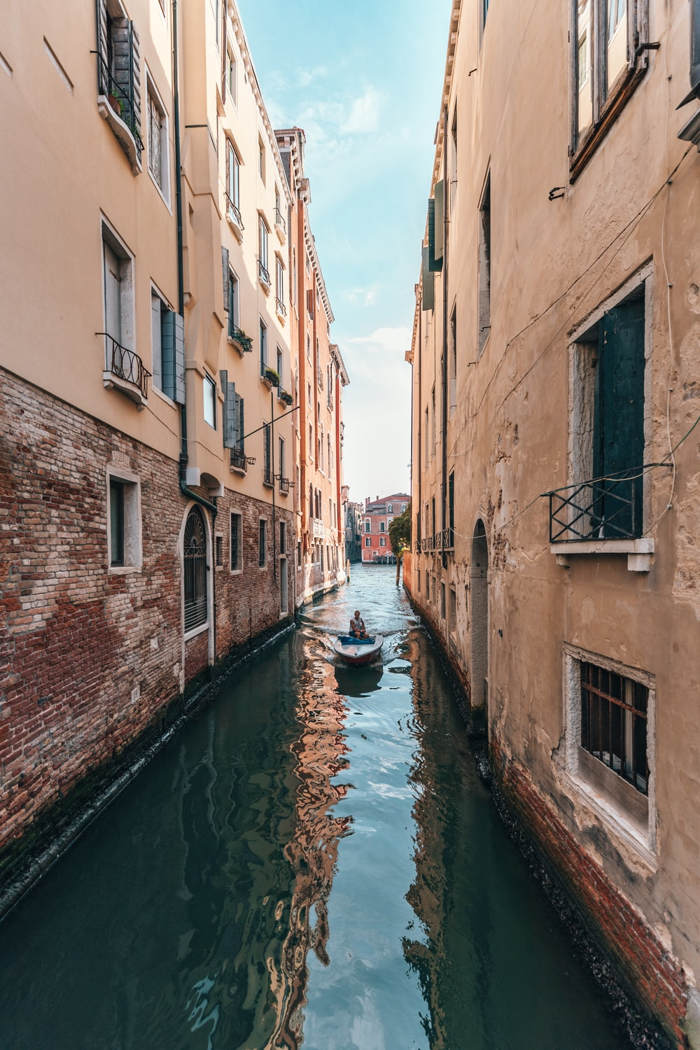 boat on Grand Canal, Venice during daytime