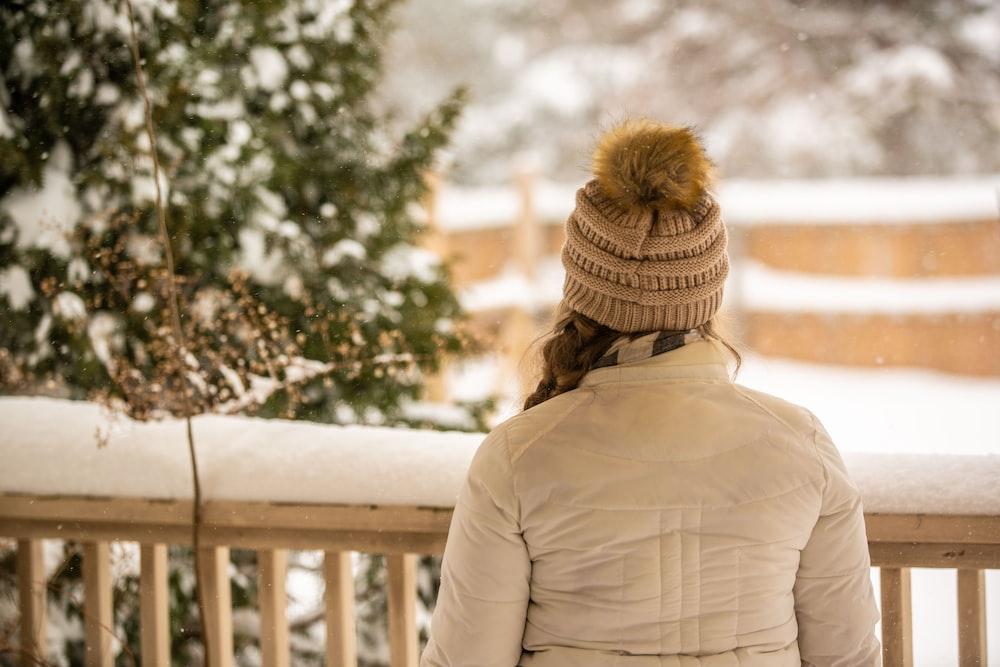 woman near handrail