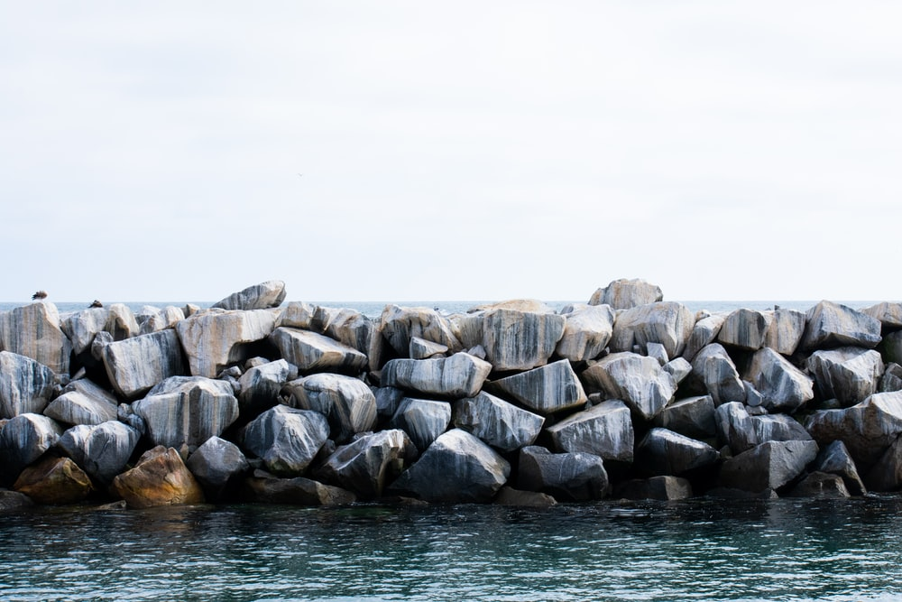 rock formations near body of water