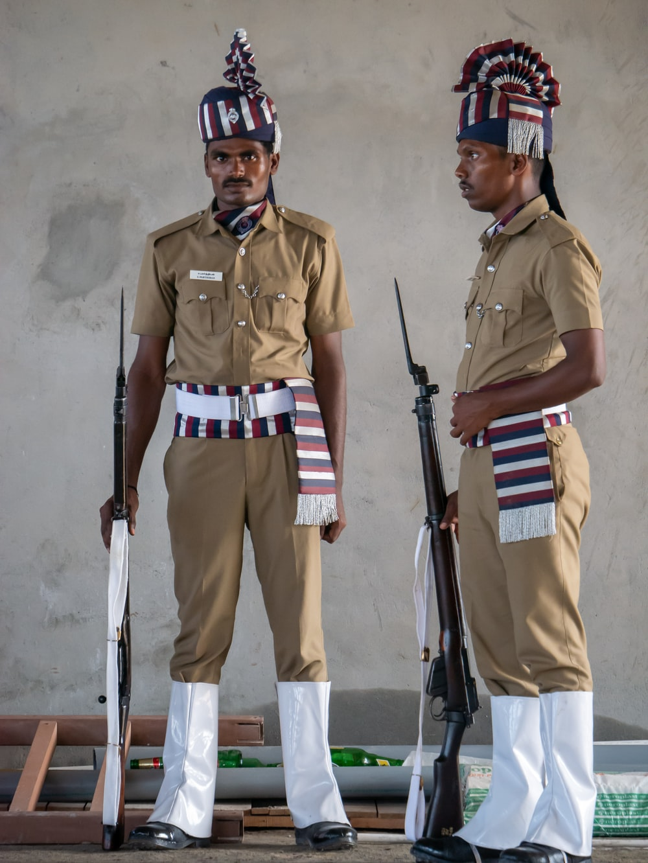 man wearing uniform