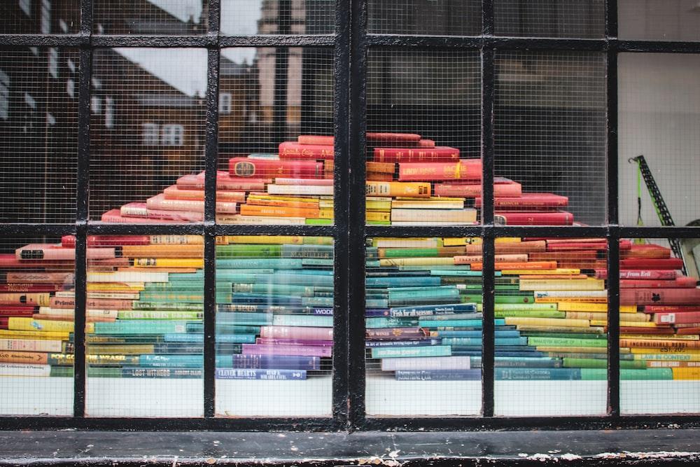 rainbow book art