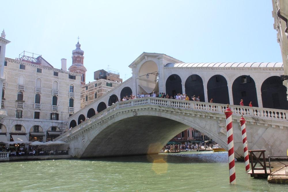 white bridge in Venice