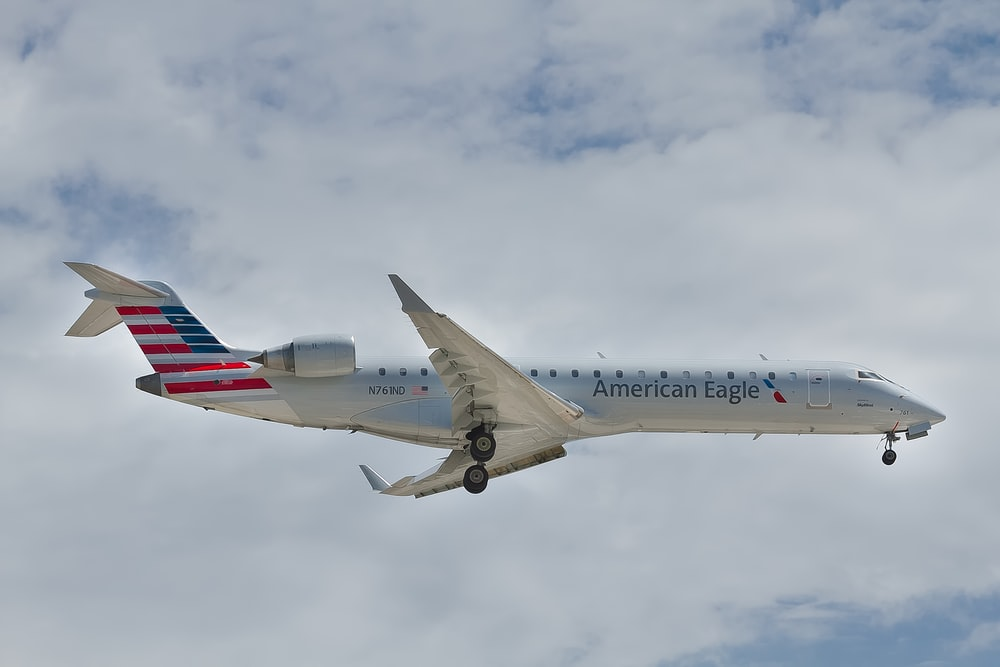 white American Eagle airplane