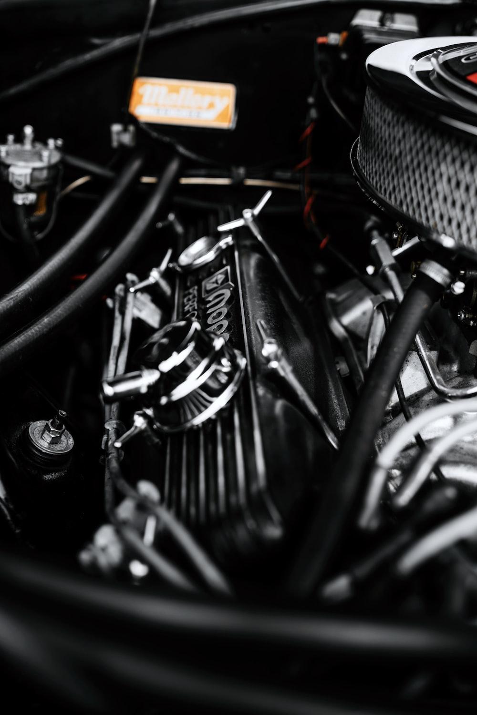 car engine macro photography