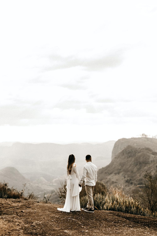 woman wears white dress