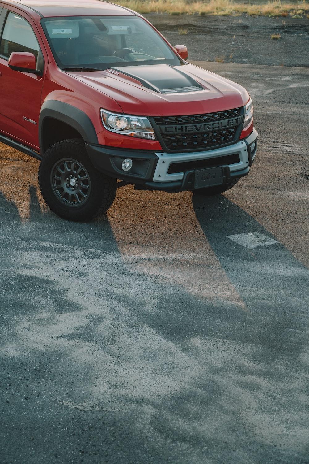 red Chevrolet SUV