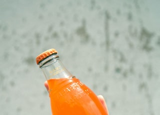 filled glass bottle