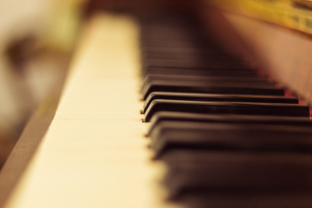 close up photography of piano