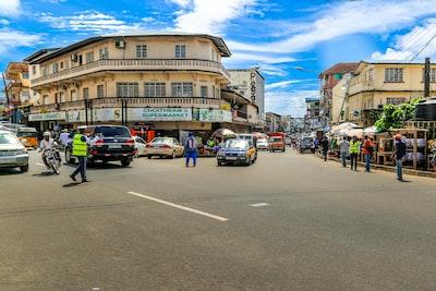 Freetown people walking on street during daytime