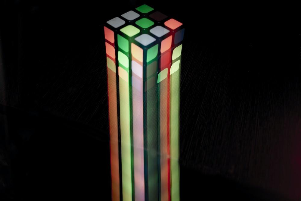 multicolored cube clip art
