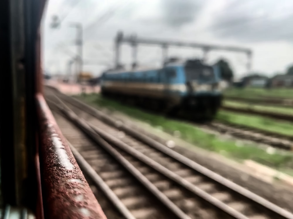 closeup photo of train at daytime