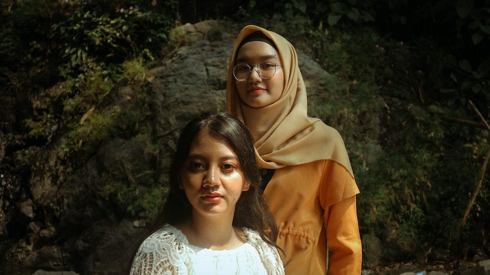 two women near each other