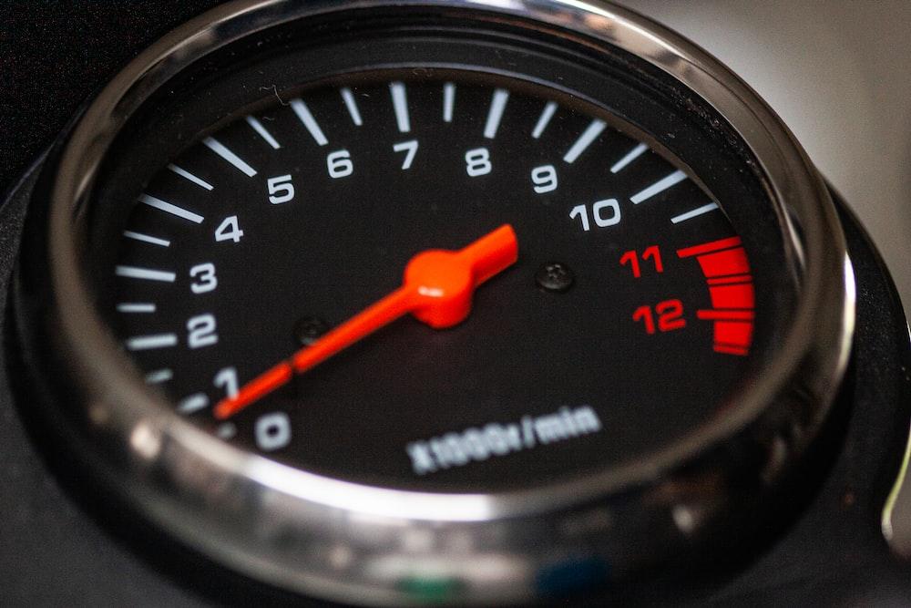 analog gauge pointing at 0