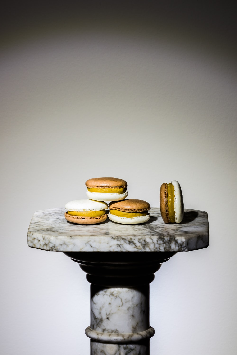 four French macaroons