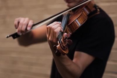 man playing violin violin zoom background