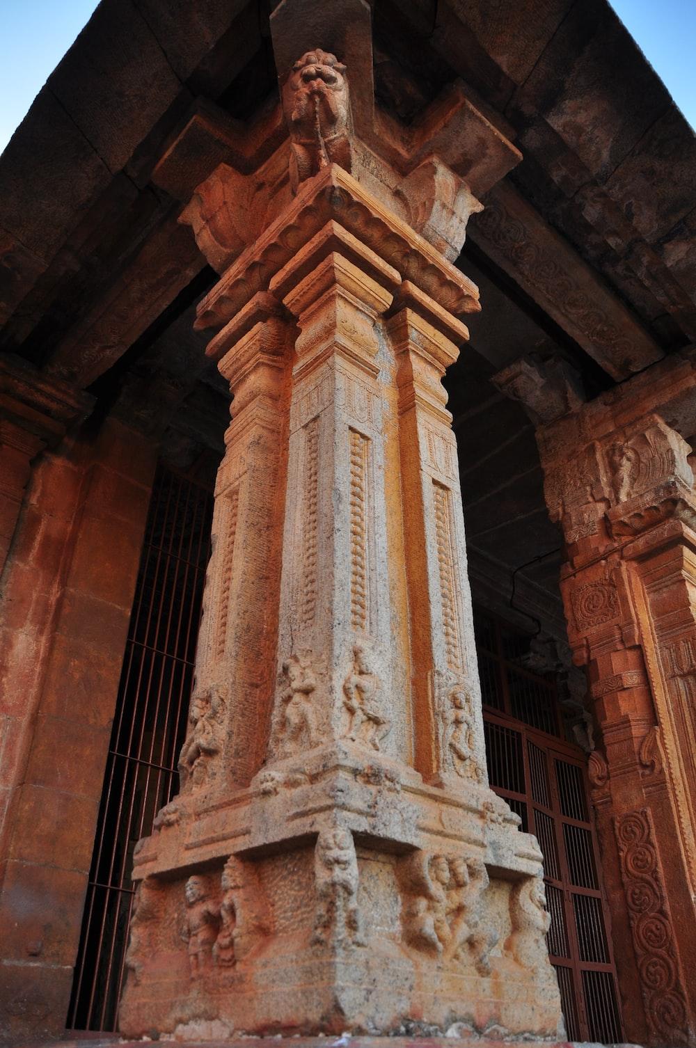 beige concrete column