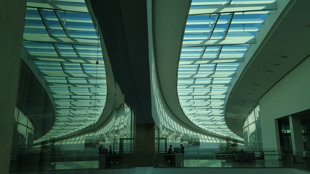 architectural photography of white monument interior view