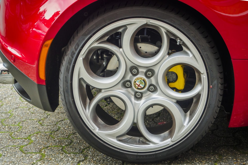 red Alfa Romeo vehicle