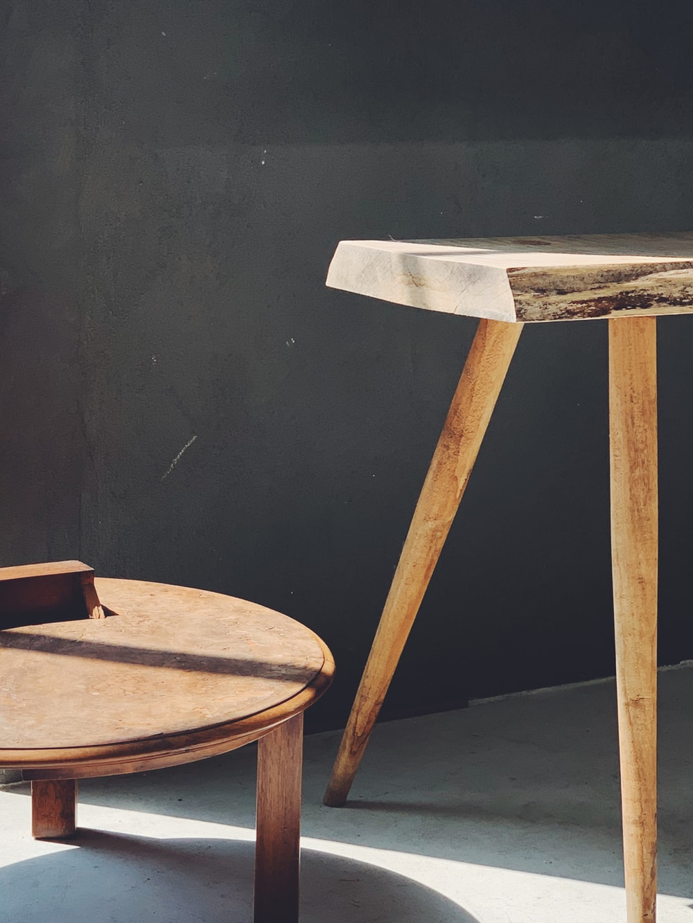brown wooden bar stool