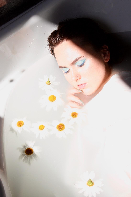 woman in bathtub