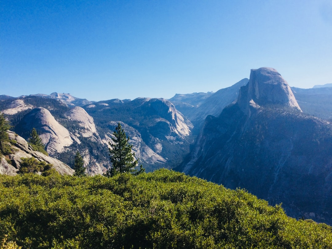 Amazing landscape in Yosemite Valley taken from glacier point