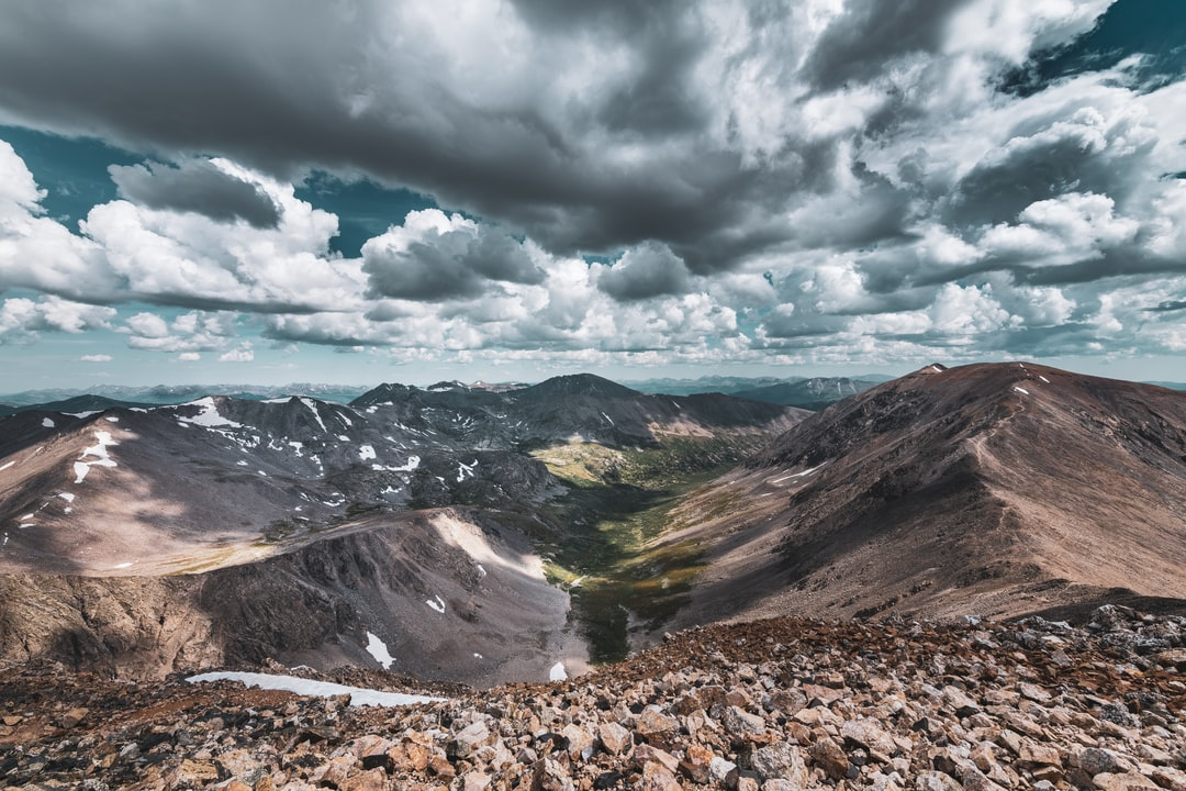 View from the top of Mount Democrat, Colorado