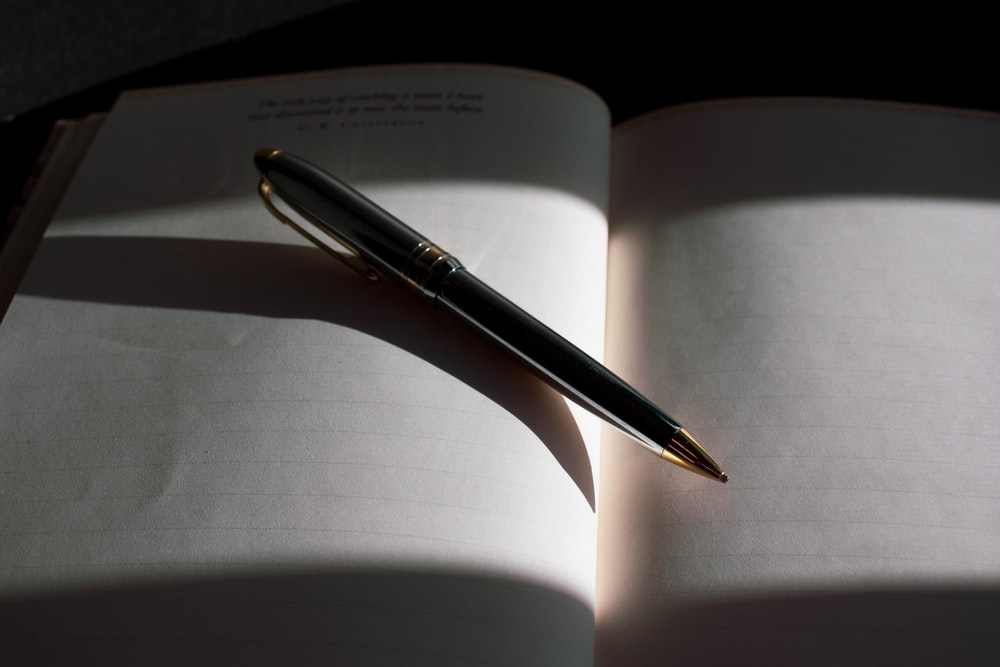 gray pen