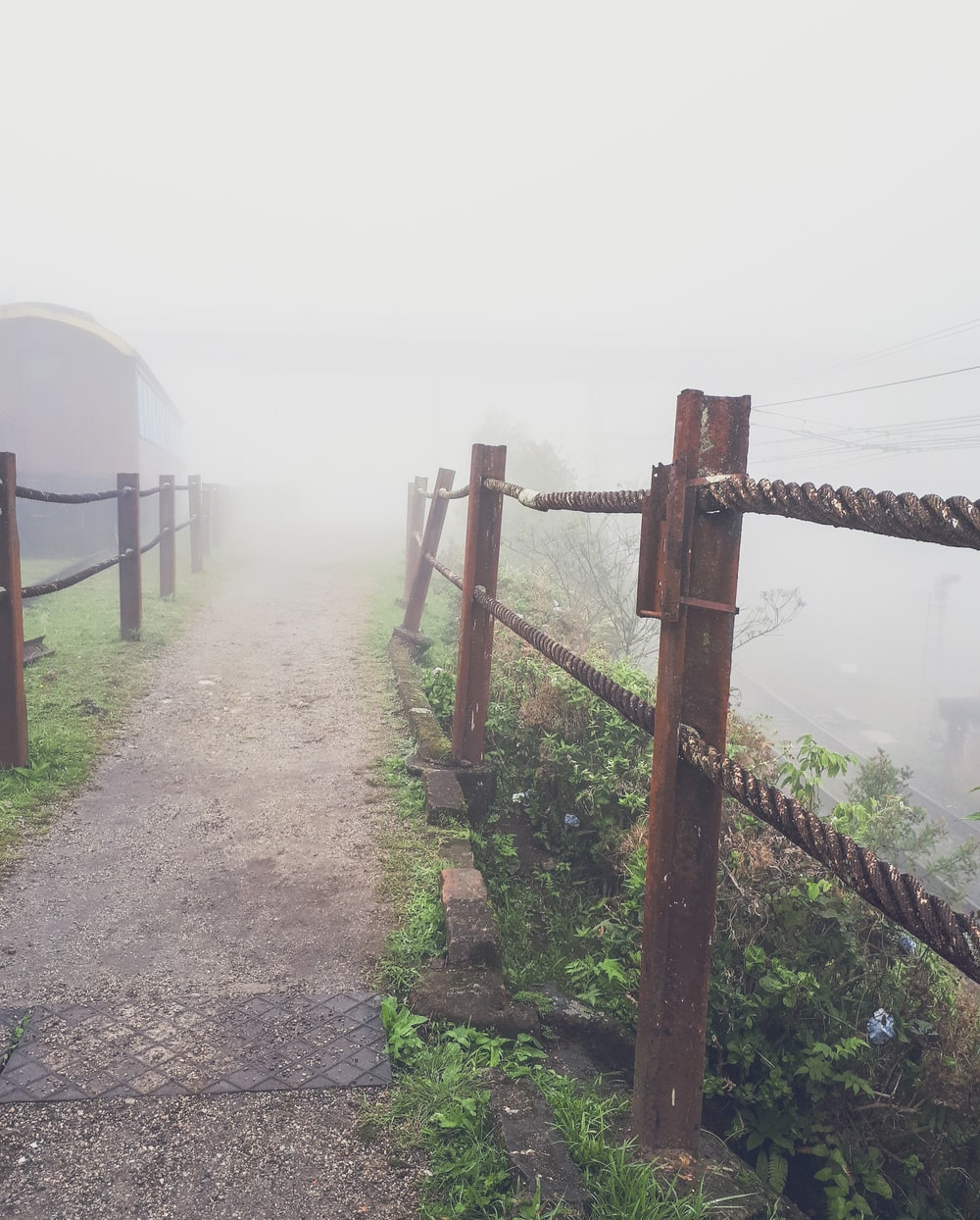 pathway with fogs