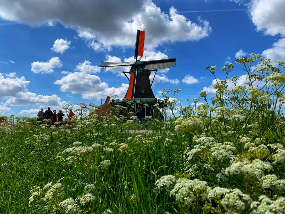 windmill during daytime