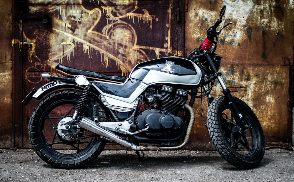 black and gray standard motorcycle