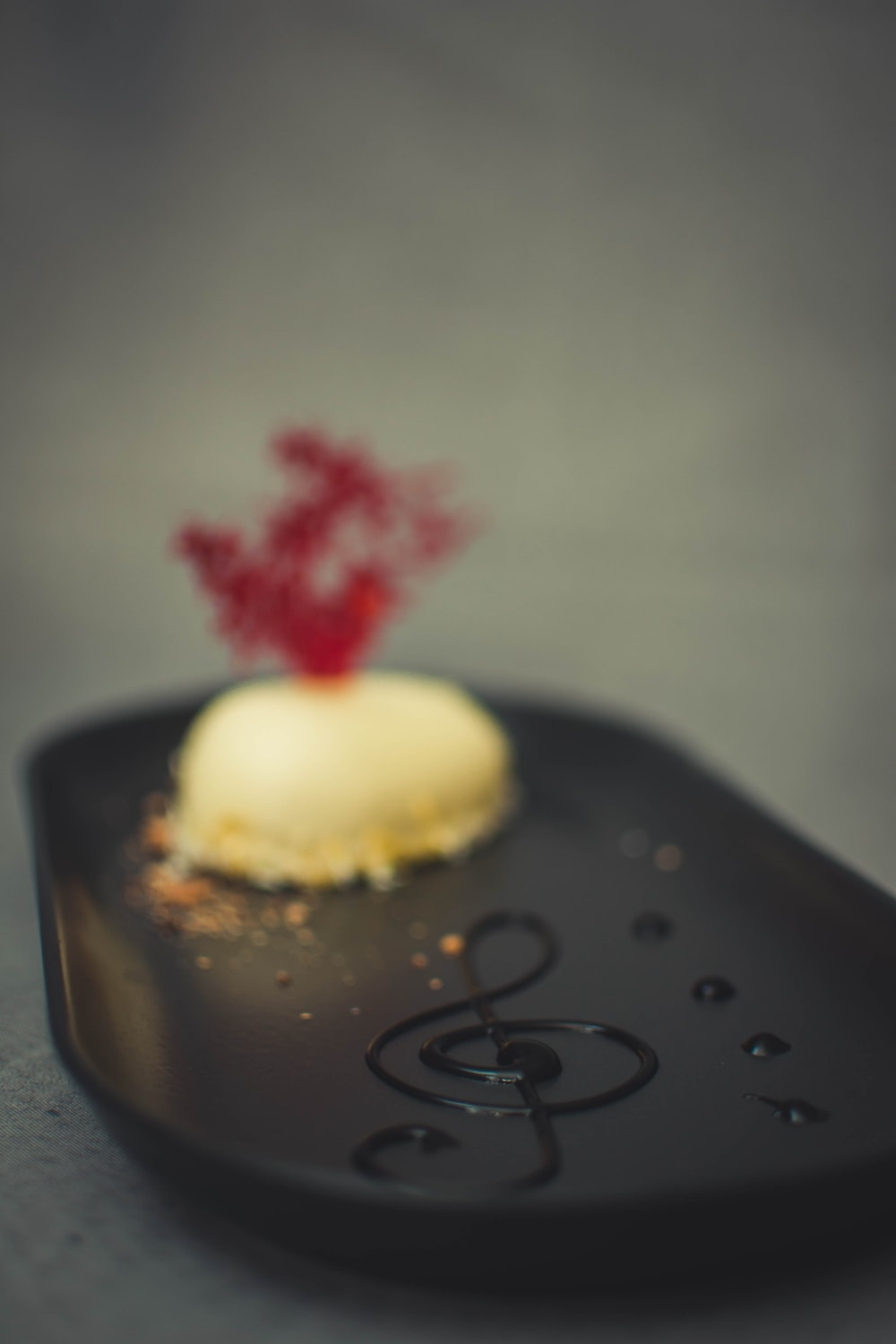French macaron in plate