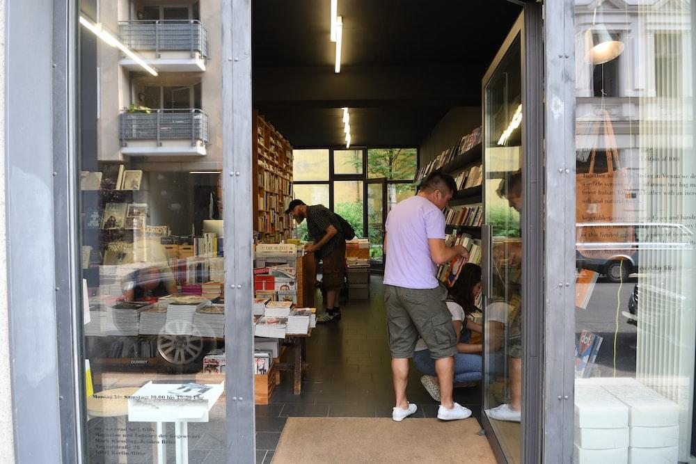 people inside store