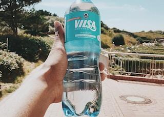 filled Vilsa bottle