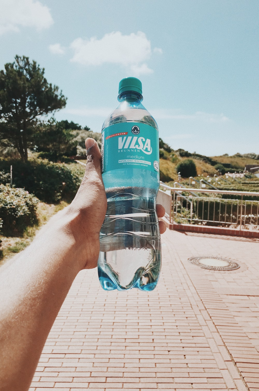 filled Vilsa bottle